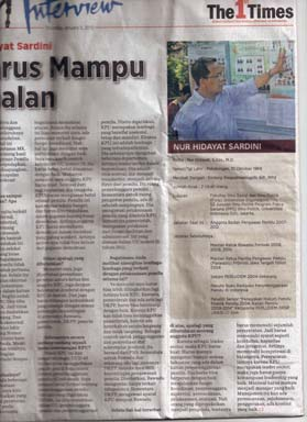 Wawancara Dengan Koran Harian Dua Bahasa The First Time Kamis, 5 Januari 2012